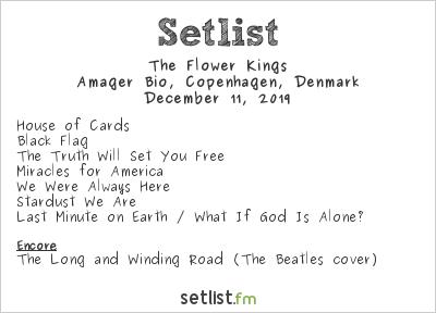 The Flower Kings Setlist Amager Bio, Copenhagen, Denmark 2019
