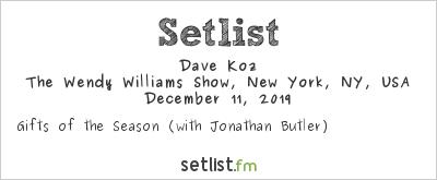 Jonathan Butler at The Wendy Williams Show, New York, NY, USA Setlist