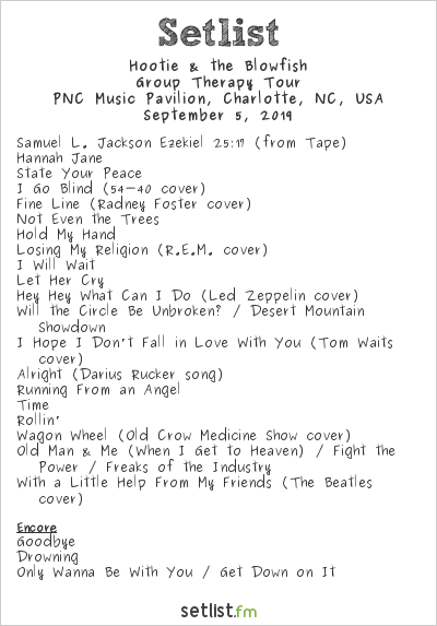 Hootie & the Blowfish Setlist PNC Music Pavilion, Charlotte, NC, USA 2019, Group Therapy Tour