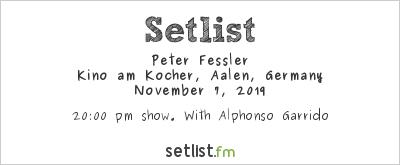 Peter Fessler at Aalener Jazzfest 2019 Setlist