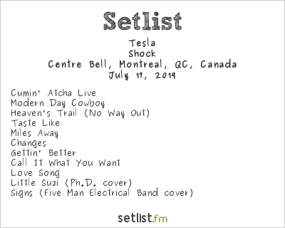 Tesla Setlist Centre Bell, Montreal, QC, Canada 2019, Shock