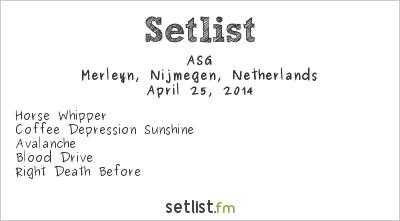 ASG Setlist Merleyn, Nijmegen, Netherlands 2014