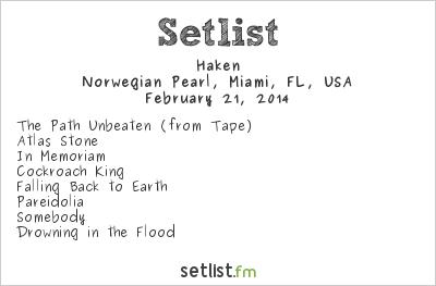 Haken Setlist Progressive Nation at Sea 2014 2014