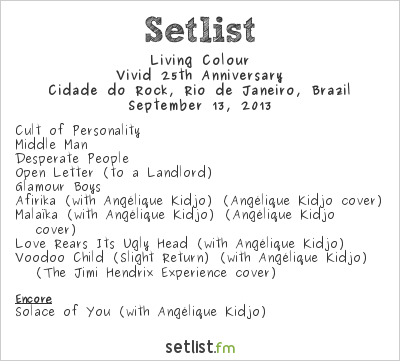 Living Colour Setlist Rock In Rio 5 2013