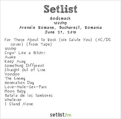 Godsmack Setlist Arenele Romane, Bucharest, Romania 2015