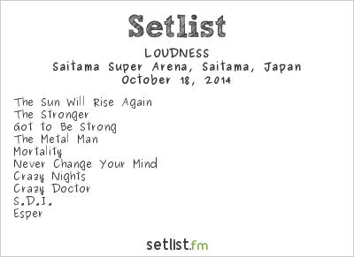 Loudness Setlist Loud Park 2014 2014