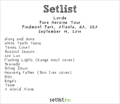 Lorde at Music Midtown 2014 Setlist
