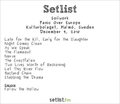 Soilwork Setlist Kulturbolaget, Malmö, Sweden 2010, Panic Over Europe