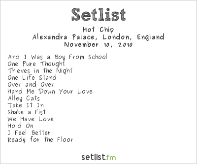 Hot Chip Setlist Alexandra Palace, London, England 2010