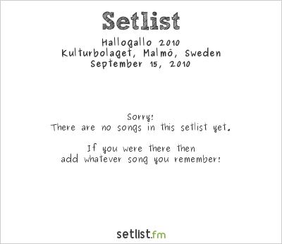 Neu! Setlist Kulturbolaget, Malmö, Sweden 2010