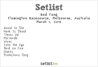 Red Fang Setlist Soundwave Melbourne 2013 2013