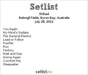 Shihad Setlist Splendour In The Grass 2012 2012