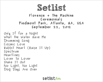 Florence + the Machine at Music Midtown 2012 Setlist