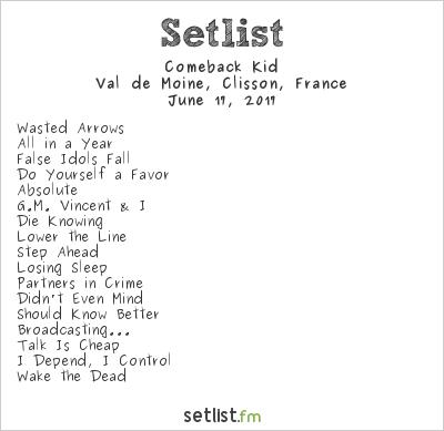 Comeback Kid Setlist Hellfest 2017 2017