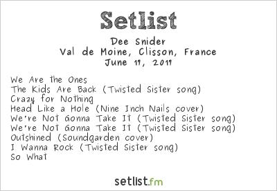 Dee Snider Setlist Hellfest 2017 2017