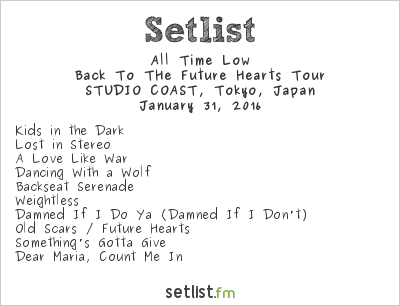 Back To The Future Hearts Tour Setlist