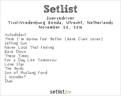 Swervedriver Setlist Le Guess Who? 2015 2015