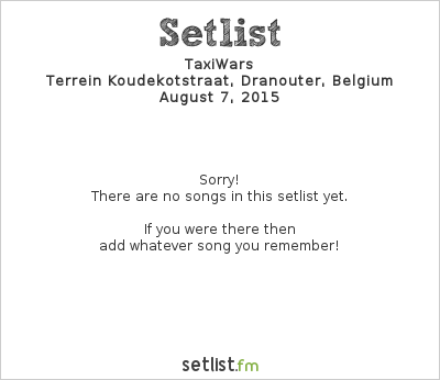 Setlist TaxiWars