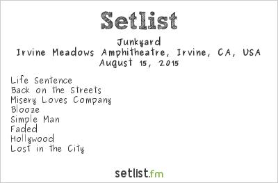 Junkyard Setlist Cathouse Live 2015 2015