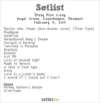 Dizzy Mizz Lizzy Setlist Royal Arena, Copenhagen, Denmark 2017