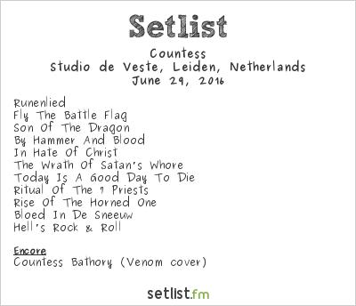 Countess Setlist Studio de Veste, Leiden, Netherlands 2016