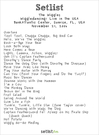 """The Wiggles Setlist BankAtlantic Center, Sunrise, FL, USA 2006, Wiggledancing! Simon Price, the 44-year-old red Wiggle, chimed in to suggest it wasn't all smooth sailing. 'When we find time, we will,' she said, as Lachy jumped in to say they're hoping to all have a break around Christmas. Wake up to a better breakfast with Samantha Armytage and David Koch for all the latest news, sport and weather. D&D Beyond """"We feel a responsibility to give good, positive messages and to empower children,"""" Blue Wiggle Anthony Field said on Sunrise. V4, Rel… The star also explained that since their wedding, nothing in the group dynamic had altered too much. Emma has certainly been working hard since rising to attention on The Wiggles. Passionate: 'If I can do anything to encourage and support it [incorporating sign language into the community], then I'd absolutely love to,' the personality continued. The Wiggles tour and live show locations, dates, times, regions and countries. The Wiggles are Australia's premier children's entertainers and are a global cultural phenomenon. A V3 Was Spotted At Westfield Woden With Only 2 Songs (As"""