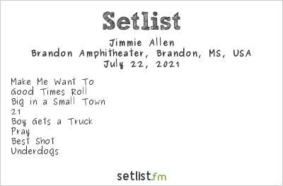 Jimmie Allen at Brandon Amphitheater, Brandon, MS, USA Setlist