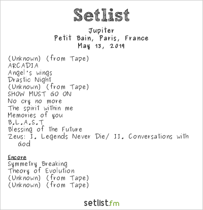 Jupiter Setlist Petit Bain, Paris, France 2019