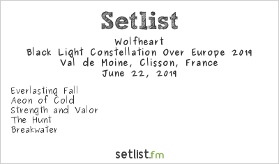 Wolfheart Setlist Hellfest 2019, Black Light Constellation Over Europe 2019