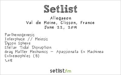 Allegaeon Setlist Hellfest 2019 2019