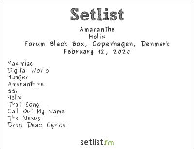Amaranthe Setlist Forum Black Box, Copenhagen, Denmark 2020, Helix