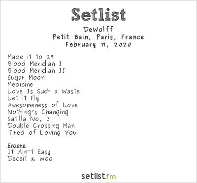 DeWolff Setlist Petit Bain, Paris, France 2020