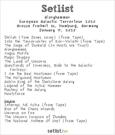 Gloryhammer Setlist Grosse Freiheit 36, Hamburg, Germany 2020, Legends from Beyond the Galactic Terrorvortex