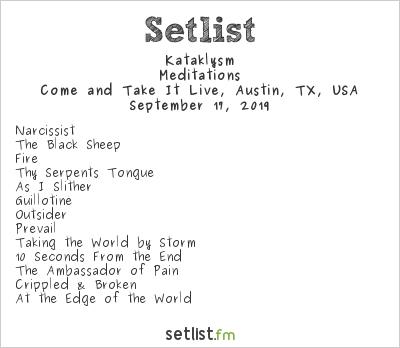 Kataklysm at Come and Take It Live, Austin, TX, USA Setlist