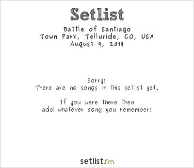 Battle of Santiago at Telluride Jazz Festival 2019 Setlist