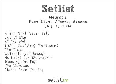 Neurosis Setlist Fuzz Club, Athens, Greece 2014