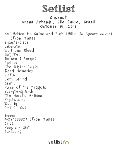 Slipknot Setlist Monsters of Rock Brazil 2013 2013