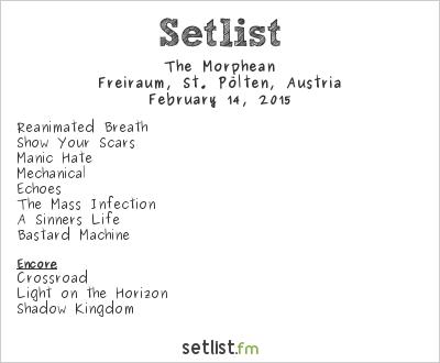 The Morphean Setlist Freiraum, St. Pölten, Austria 2015