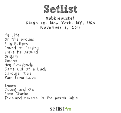 Rubblebucket Setlist Stage 48, New York, NY, USA 2014