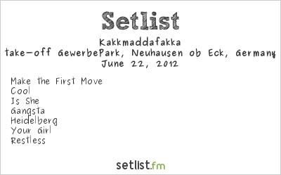 Kakkmaddafakka Setlist Southside Festival 2012 2012