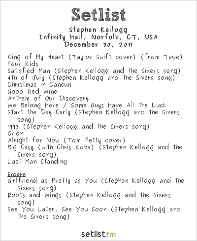 Stephen Kellogg Setlist Infinity Music Hall & Bistro, Hartford, CT, USA 2017