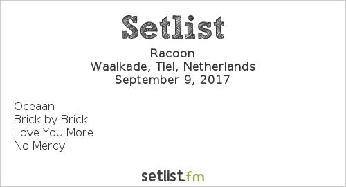 Racoon Setlist Appelpop 2017 2017
