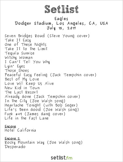Eagles Setlist The Classic West 2017