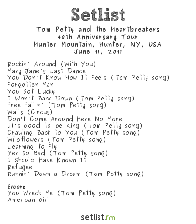 Tom Petty and the Heartbreakers Setlist Mountain Jam 2017 2017, 40th Anniversary Tour