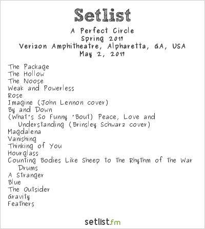 A Perfect Circle Setlist Verizon Wireless Amphitheater, Alpharetta, GA, USA, Spring 2017
