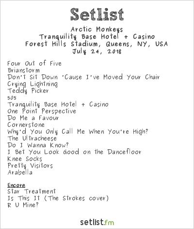 Arctic Monkeys Setlist Forest Hills Tennis Stadium, New York, NY, USA 2018, Tranquility Base Hotel + Casino