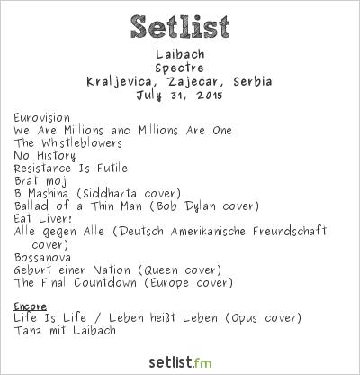 Laibach Setlist Gitarijada 2015 2015, Spectre Tour