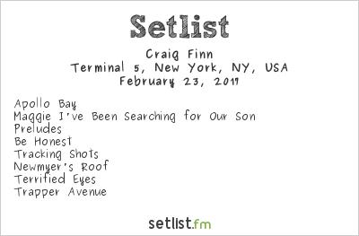 Craig Finn Setlist Terminal 5, New York, NY, USA 2017