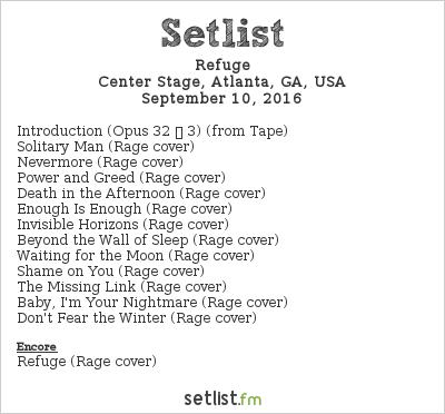Refuge Setlist ProgPower USA XVII 2016