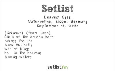 Leaves' Eyes at Naturbühne, Elspe, Germany Setlist